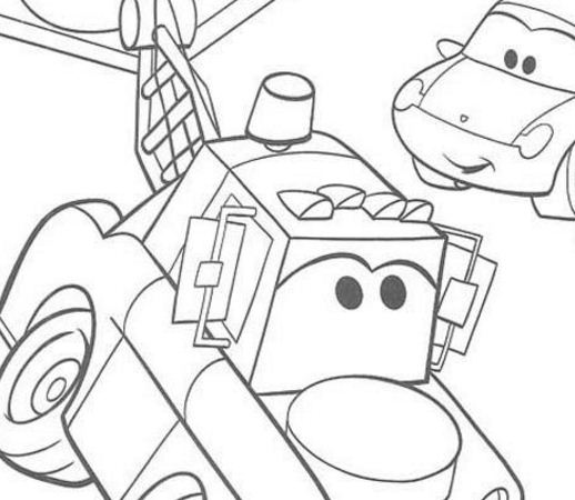 Mater In The Street Coloring Page