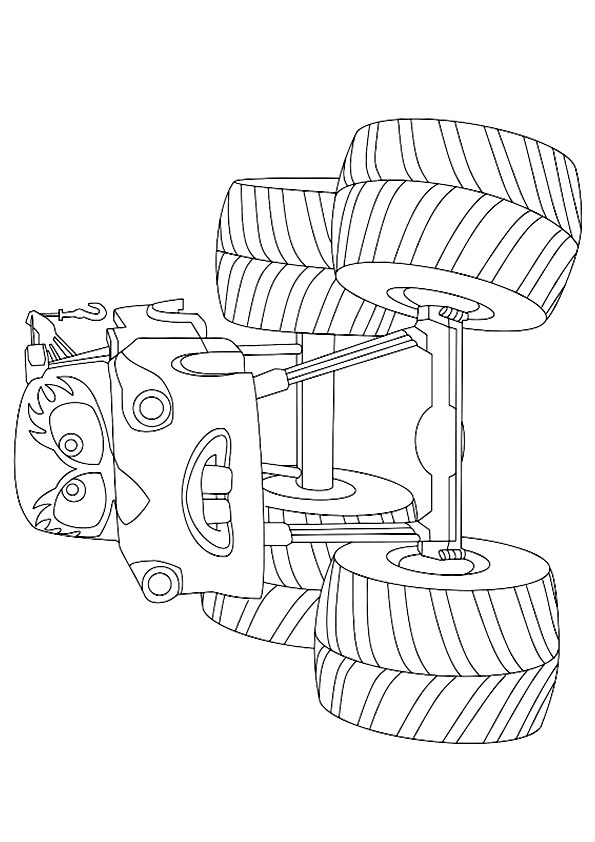 Mater Monster Truck Coloring Page
