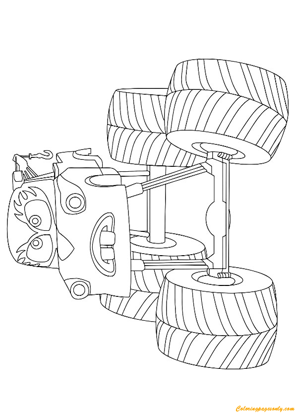 mater monster truck coloring page - Monster Truck Mater Coloring Page