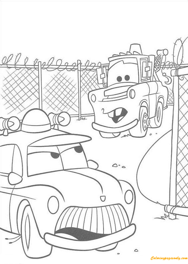 Mater Tall Tales Disey Cars 2 Coloring Page
