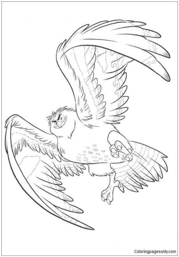 Maui Becomes A Bird Coloring Pages