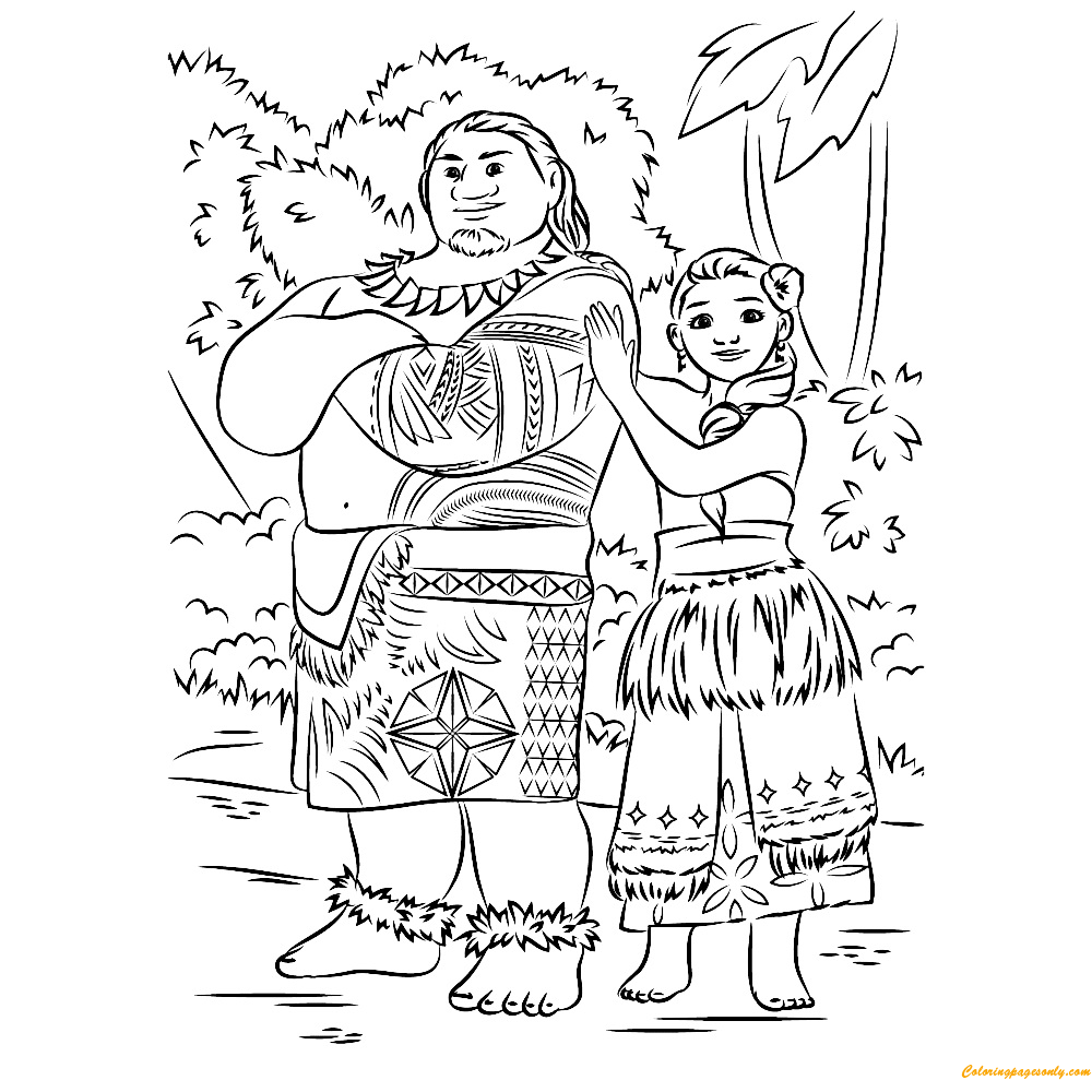 Maui Coloring Pagesto Paint Online