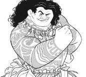 Maui From Moana Disney Coloring Page