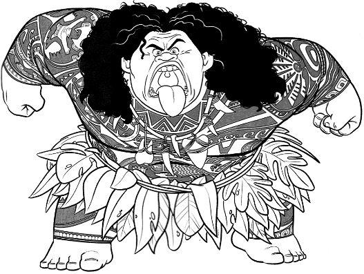 Maui Walt Disney Character From Moana