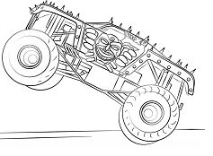 Max-D Monster Truck Coloring Page