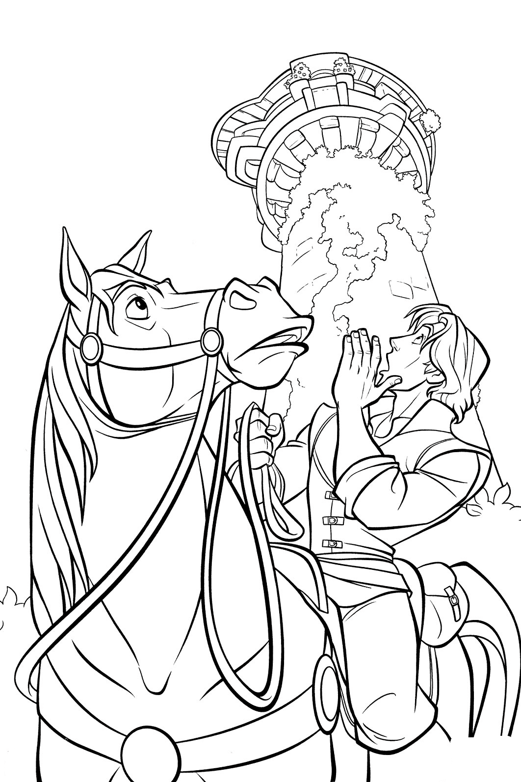 Maximus and Flynn Coloring Page