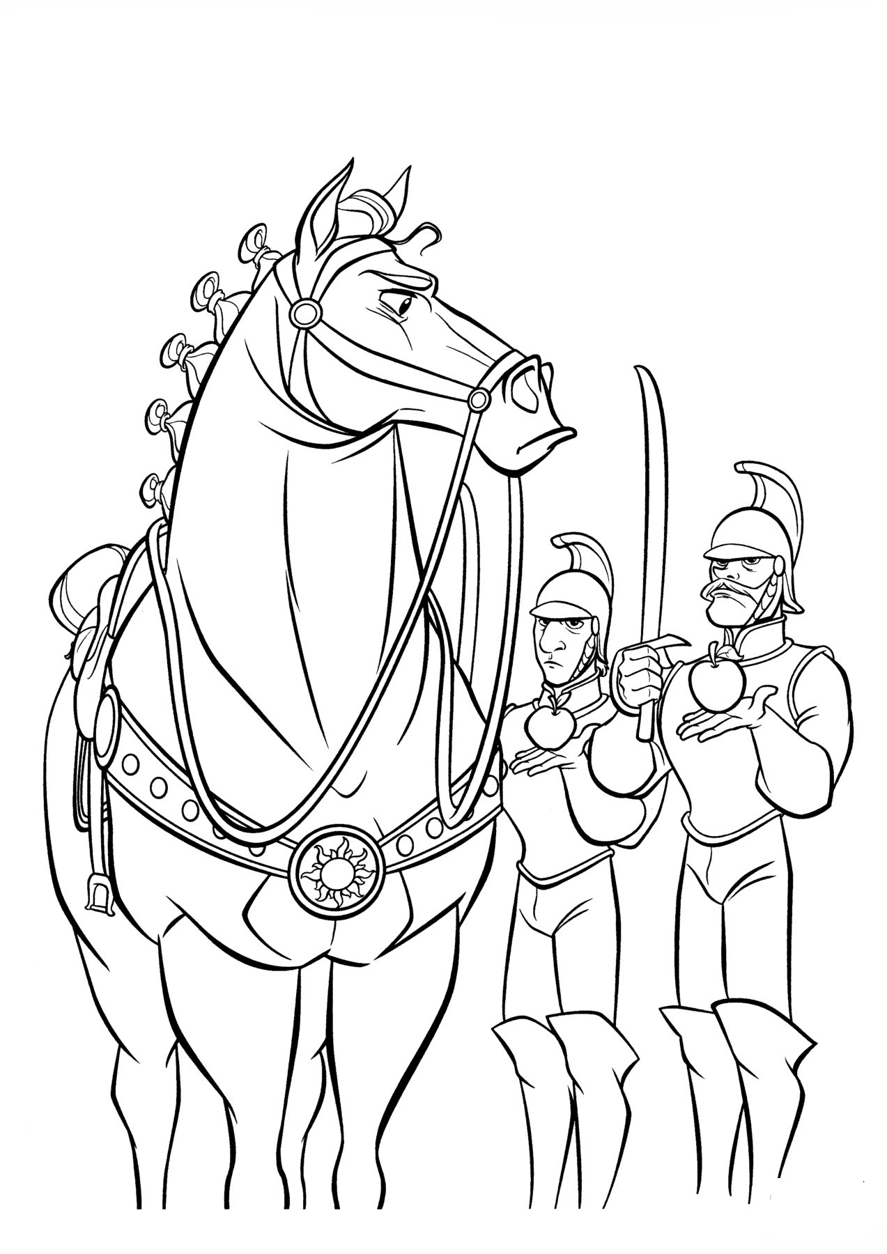 Maximus and royal guards Coloring Page