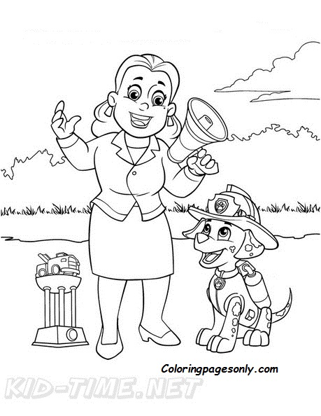 Mayor Goodway Paw Patrol Coloring Pages Cartoons Coloring Pages Free Printable Coloring Pages Online