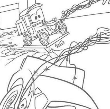 Mater The Tow Truck Coloring Page - Free Coloring Pages Online