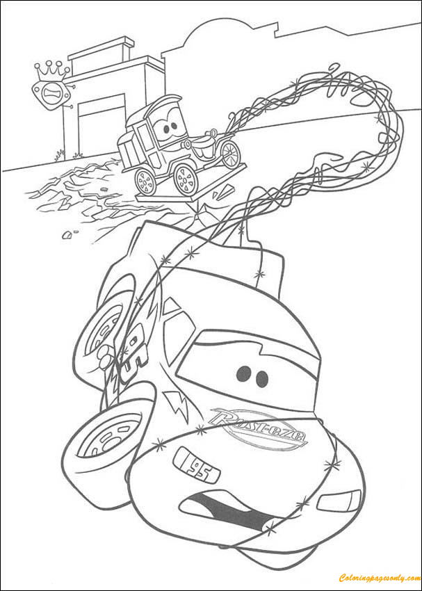 Mc Queen And Lizzie Coloring Page