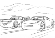 McQueen and Ramirez from Cars 3 from Disney Cars Coloring Page