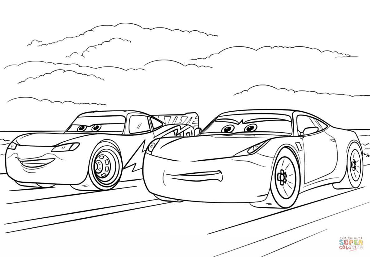 mcqueen and ramirez from cars 3 from disney cars coloring
