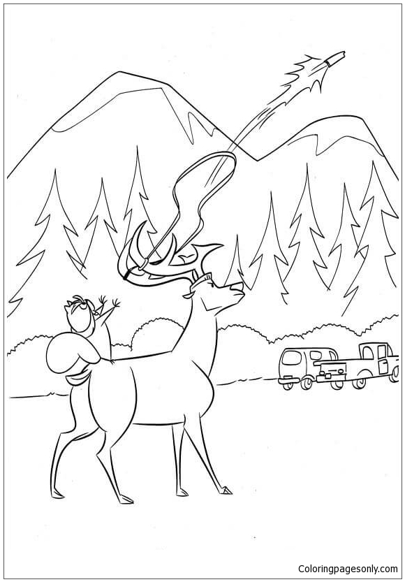 McSquizzy Attacks Hunters Coloring Page
