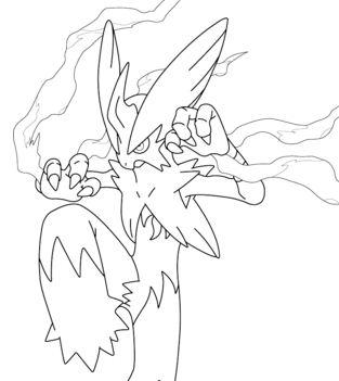 Mega Blaziken From Pokemon Coloring Page