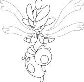 Mega Medicham Pokemon Coloring Page