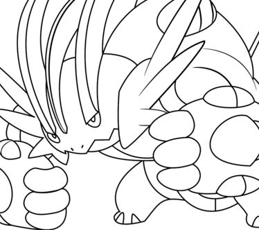 Mega Swampert From Pokemon Coloring Page
