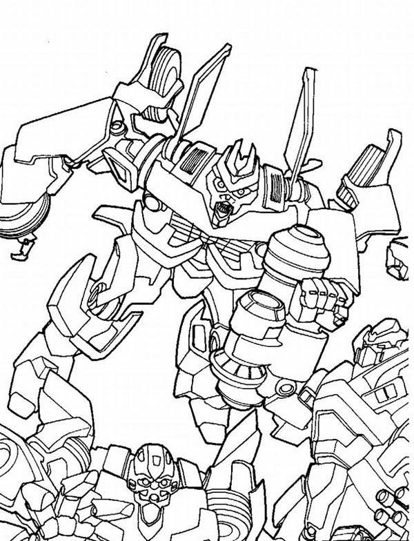 Megatron Fighting Bumblebee Coloring Page