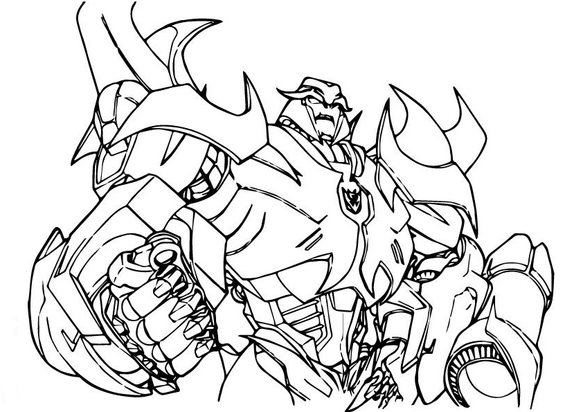 Megatron from Transformers Coloring Page