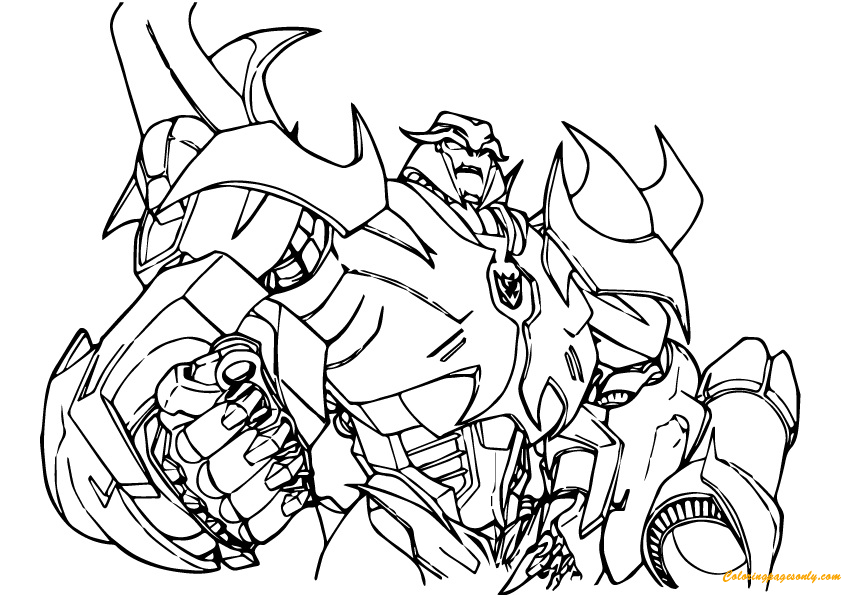 full screen download print picture - Transformers Coloring Pages