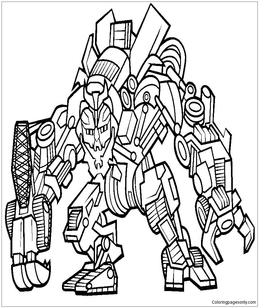 Megatron Coloring Page - Free Coloring Pages Online
