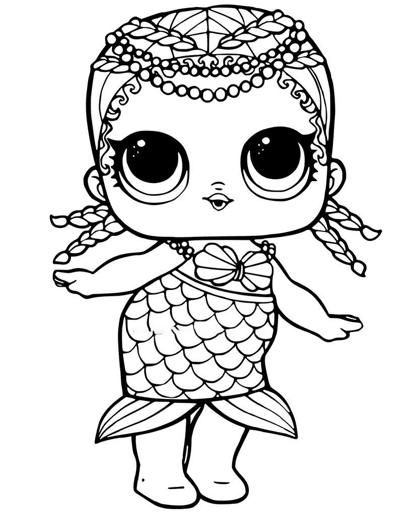 Lol Suprise Doll Merbaby Coloring Page