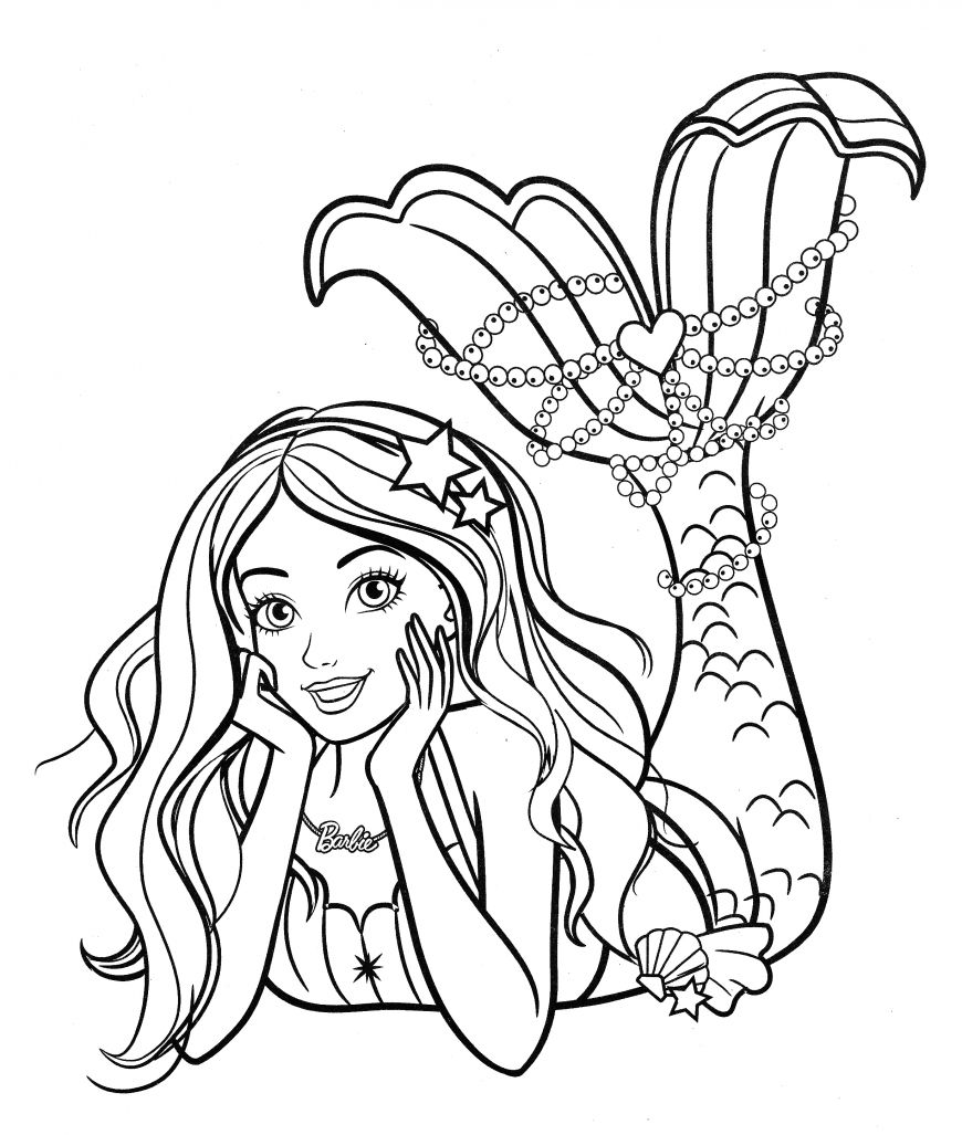 Mermaid Princess Coloring Page