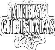 Merry Christmas 5 Coloring Page