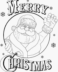 Merry Christmas 6 Coloring Page