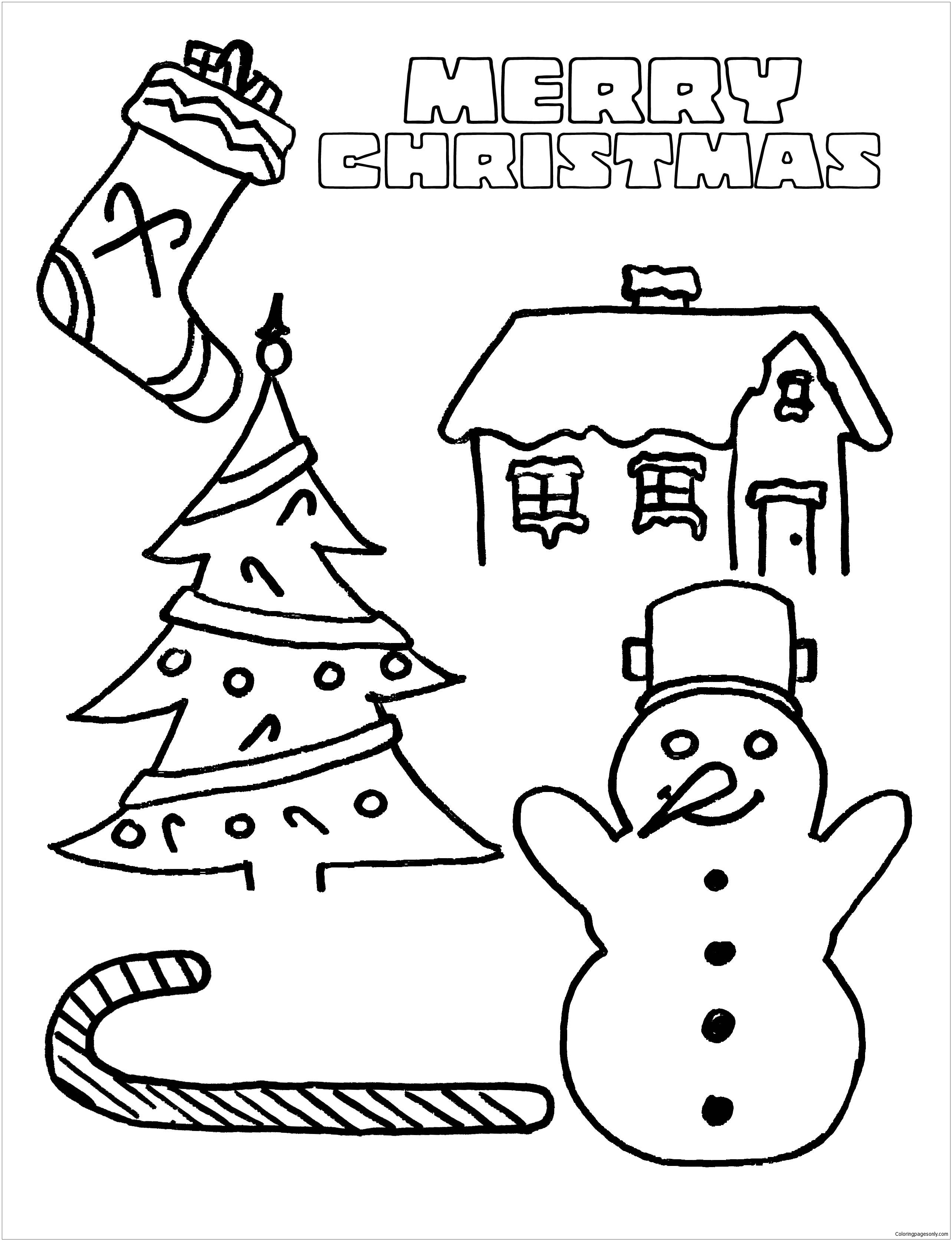 Merry Christmas 7 Coloring Page
