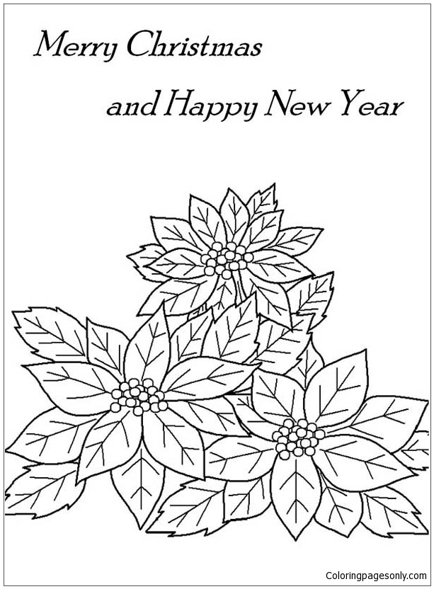 Printable Poinsettia Coloring Pages For Kids | 832x613