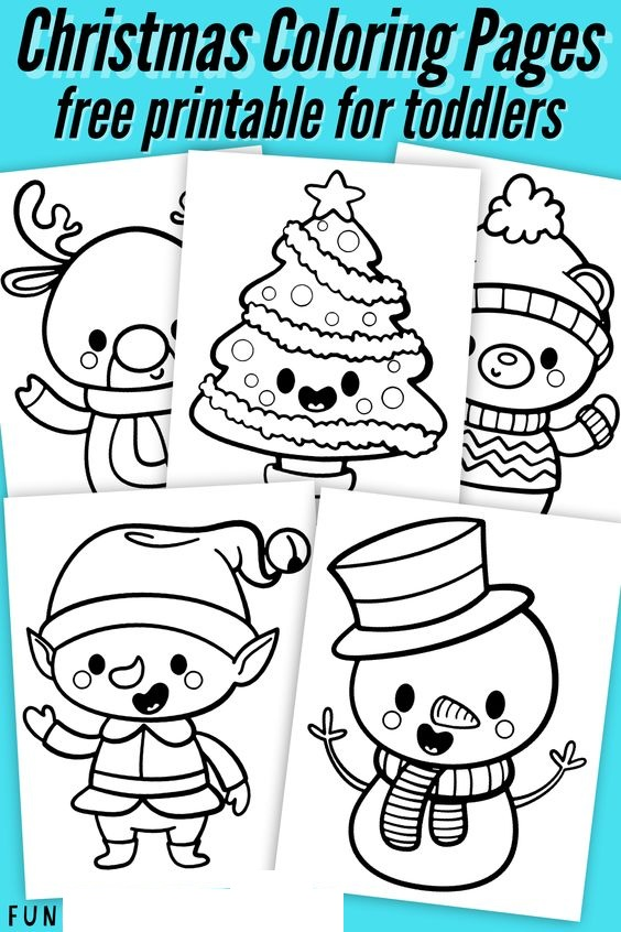 Merry Christmas For Toddlers Coloring Page
