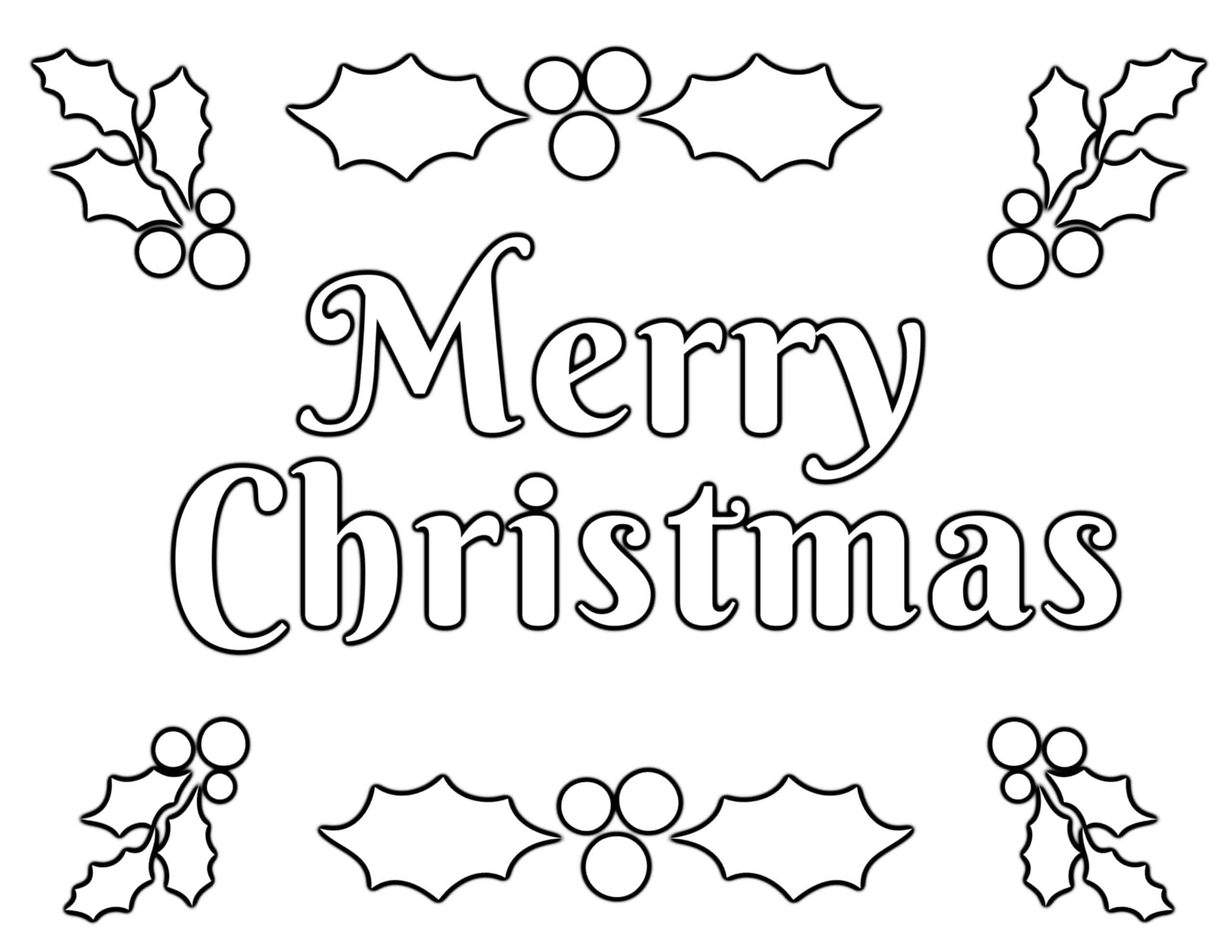 Merry Christmas Fun Coloring Page