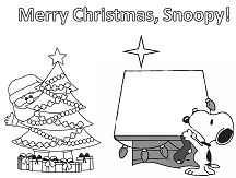 Merry Christmas, Snoopy! Coloring Page