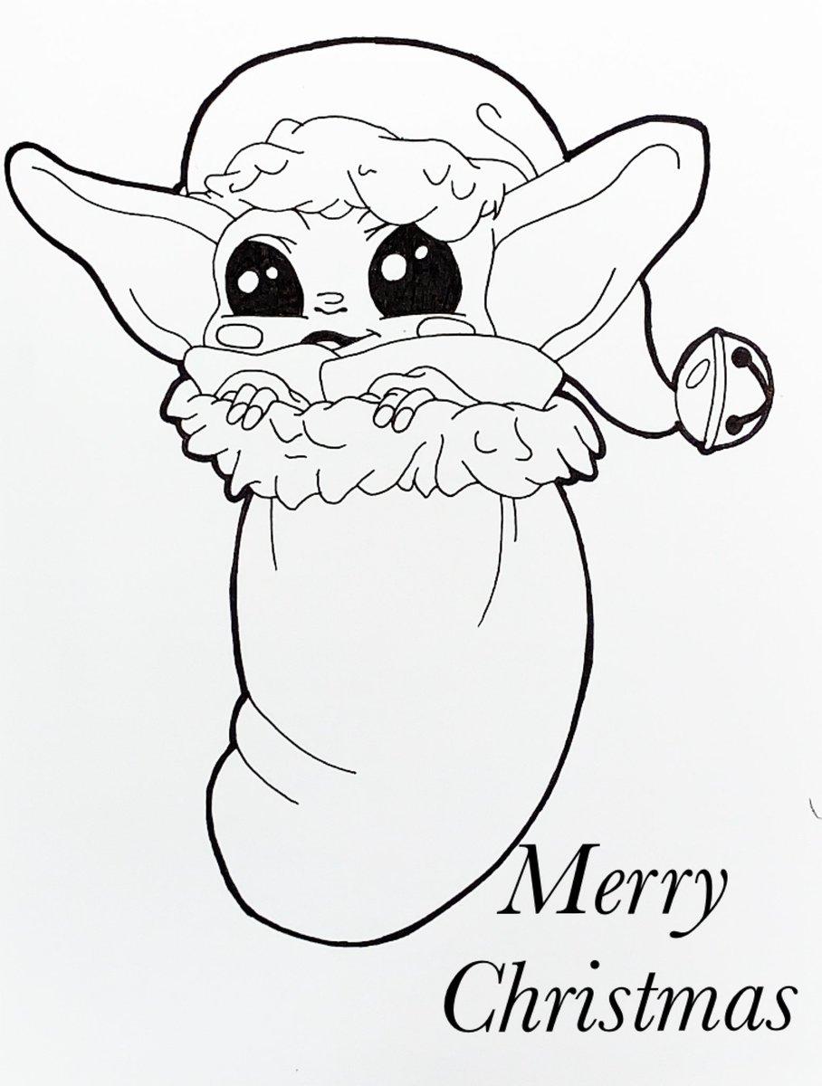 Merry Christmas Yoda baby