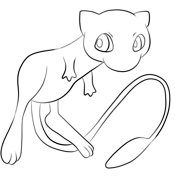 Mew From Pokemon Coloring Page