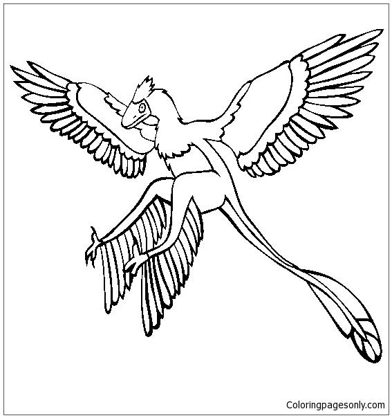 Microraptor  Coloring Page