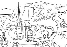 Midnight Ride of Paul Revere Coloring Page