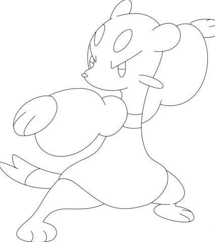 Mienfoo Pokemon Coloring Page