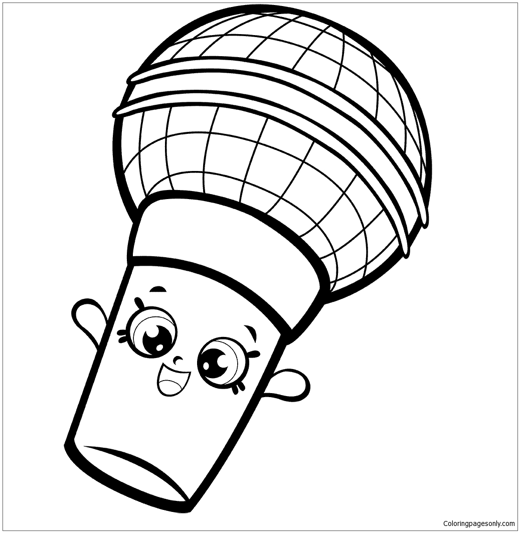 Mike Rophone Shopkins Season 7 Coloring Page - Free Coloring Pages Online