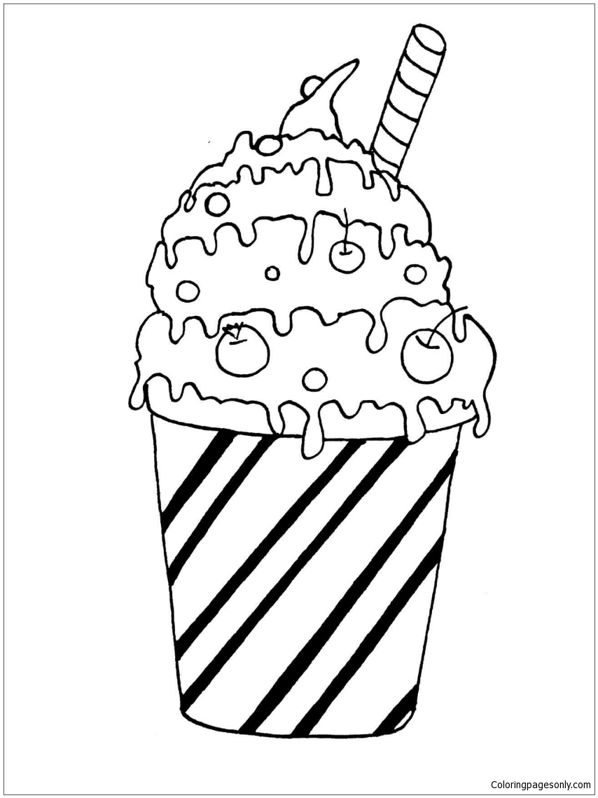 Milk Cocktail Coloring Page