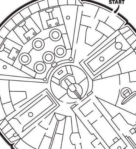 The Millennium Falcon Maze Coloring Page
