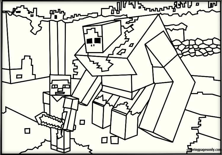 Minecraft Coloring Pages - Cartoons Coloring Pages - Free Printable  Coloring Pages Online