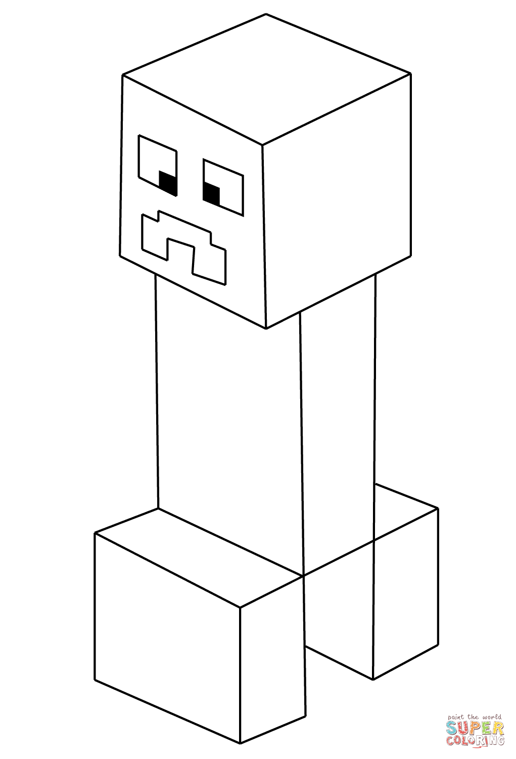 Kleurplaat Minecraft Skins Minecraft Creeper From Minecraft Coloring Page Free