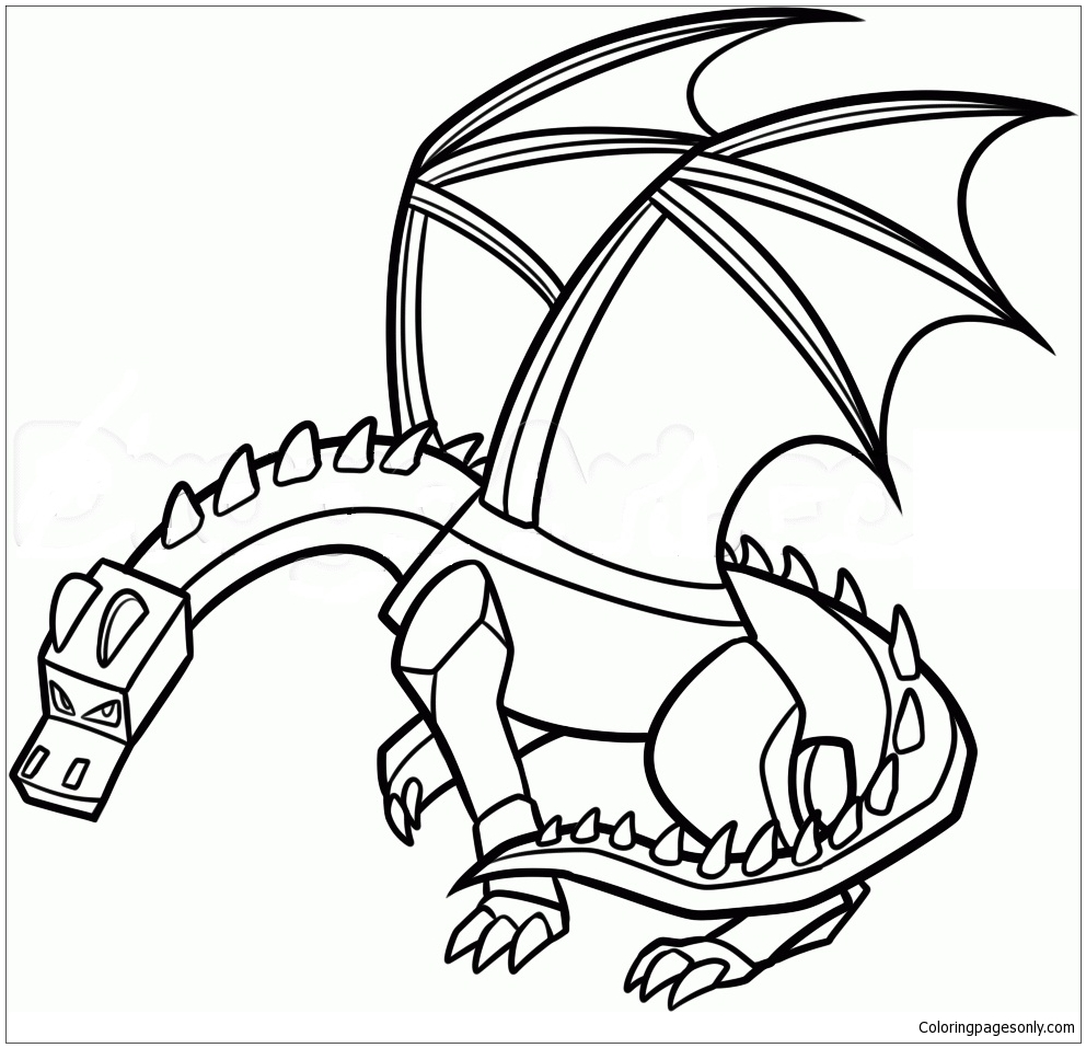 Minecraft Dragon Coloring Pages Cartoons Coloring Pages Free Printable Coloring Pages Online