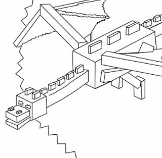 Minecraft Ender Dragon Coloring Page Free Coloring Pages
