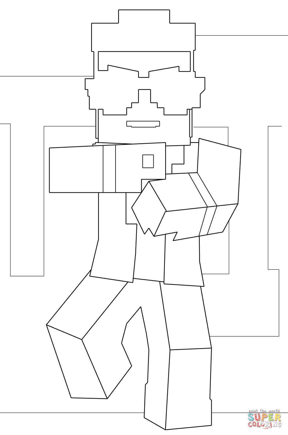 Minecraft Gangnam Style From Minecraft Coloring Page Free Coloring Pages Online