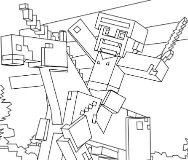 Steve Minecraft Coloring Page Free Coloring Pages Online