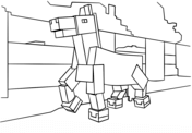 Minecraft Horse from Minecraft Coloring Page