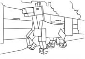 Minecraft Horse from Minecraft