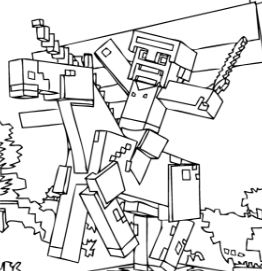 Minecraft Coloring Pages Coloringpagesonly Com